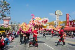 Chinese draakprestaties Royalty-vrije Stock Foto