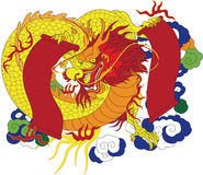 Chinese Dragon. Is Ancient monsters lucky Symbol for new year Royalty Free Stock Photo