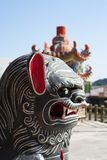 Chinese Dragon. Figure against an Chinese temple Stock Photos