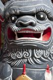 Chinese Dragon. Figure against a Chinese temple Royalty Free Stock Photography