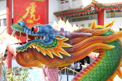 Chinese dragon. In a chinese temple in Kuala Lumpur, Malaysia. Photo taken in march 2010 royalty free stock photos