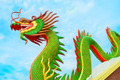 Chinese dragon. At thailand  in on (day) bright sky Royalty Free Stock Photos