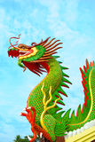 Chinese dragon. At thailand  in on (day) bright sky Royalty Free Stock Photography