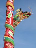 Chinese dragon. With blue sky background Stock Photography