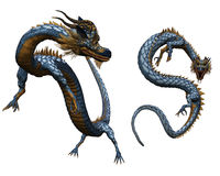 Chinese dragon. 3d render of Chinese dragon Stock Photos