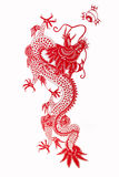 Chinese dragon 2012. Chinese paper-cut, Chinese dragon on white stock illustration
