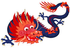 Chinese dragon. Ancient Chinese dragon. Symbol of the 2012 year Stock Photos