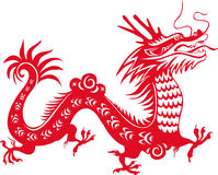 Chinese Dragon. Traditional Chinese Dragon. Art for the Year of the Dragon 2012 Royalty Free Stock Image