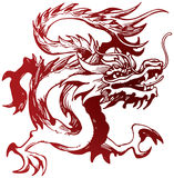 Chinese Dragon. An illustration of a traditional Chinese Dragon Stock Images