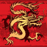 Chinese Dragon. An illustration of a traditional Chinese Dragon on a red background Stock Photos