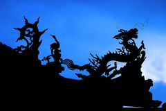 Chinese Dragon. Silhouette Royalty Free Stock Images