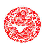 Chinese dragon. Chinese traditional dragon illustration. White background royalty free illustration