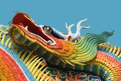 Chinese dragon. Beautiful Chinese temple dragon (close up Royalty Free Stock Image