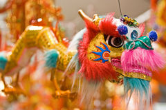 Chinese dragon. A colorful Chinese dragon that is used for celebration of the Lunar new year stock image