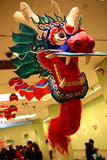 Chinese Dragon. This is the head part of a traditional chinese kite shaped as chinese dragon. This picture was taken at China Art Gallery on Chinese spring stock image