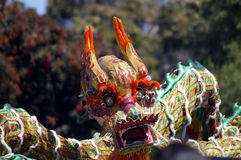 Chinese dragon. Dancing in celebration Royalty Free Stock Photos