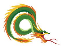 Chinese Dragon. Abstract vector illustration of chinese dragon Stock Photo