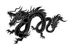 Chinese Dragon. Abstract vector illustration of chinese dragon Stock Photography
