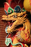 Chinese dragon. Statue in a temple in Taiwan Royalty Free Stock Photo