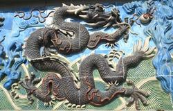 Chinese dragon of ancient ceramics Stock Image