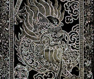 Chinese dragon art with mother of pearl inlay Royalty Free Stock Photo