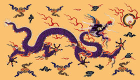 Chinese dragon background Royalty Free Stock Images