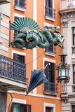 Chinese Dragon in Barcelona Stock Image