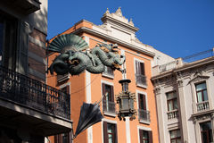 Chinese Dragon in Barcelona Stock Photography