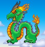Chinese dragon on blue sky Stock Photography