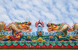 Chinese dragon and the blue sky Stock Image
