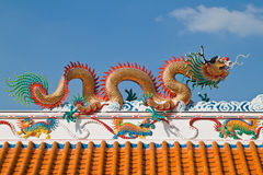 Chinese dragon and the blue sky Royalty Free Stock Photo