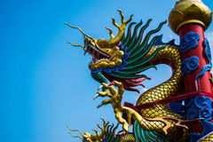 Chinese dragon. With blue sky Royalty Free Stock Photo
