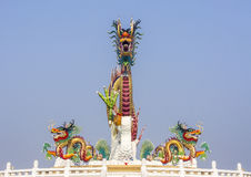 Chinese dragon on blue sky Royalty Free Stock Images