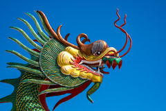 Chinese Dragon on the blue sky. Stock Image