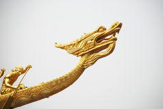 Chinese dragon boat Stock Photo