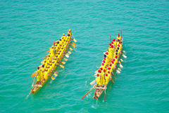 Chinese dragon boat. The annual Lunar May 5 annual Dragon Boat Festival in China, across the country will hold dragon boat races.Some places in the National Day( Stock Images