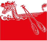 Chinese Dragon Boat background illustration Stock Photos