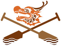 Chinese Dragon Boat competition illustration Royalty Free Stock Photo