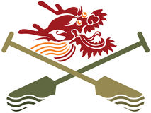 Chinese Dragon Boat competition illustration Royalty Free Stock Image