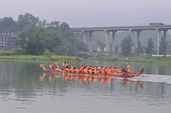 Chinese dragon boat in Dragon Boat Festival Royalty Free Stock Images