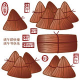 Chinese Dragon Boat Festival cook food. Illustration object Chinese Dragon Boat Festival pillow triangle packaging food cooking graphic element white color Stock Images