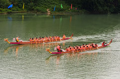 Chinese dragon boat Stock Photography