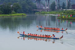 Chinese dragon boat with Stock Photography