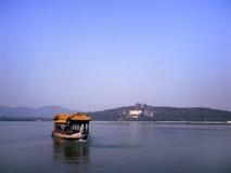 Chinese Dragon Boat at the Kuming lake Royalty Free Stock Image