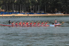 Chinese dragon boat race Royalty Free Stock Photos