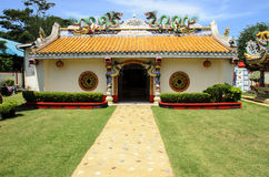 Chinese Dragon Buddhist Temple, Thailand Stock Photography