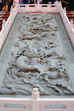 Chinese dragon carve in front of Wat Leng Noei Yi Chinese temple Royalty Free Stock Image
