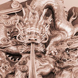 Chinese dragon carve Royalty Free Stock Images