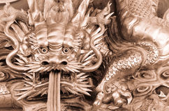 Chinese dragon carve Stock Image