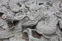 Chinese dragon carve Royalty Free Stock Photography